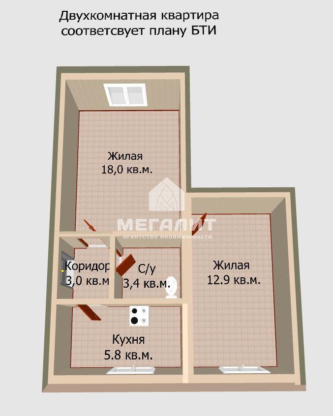 Продажа 2-к квартиры Нов-Караваевская  8