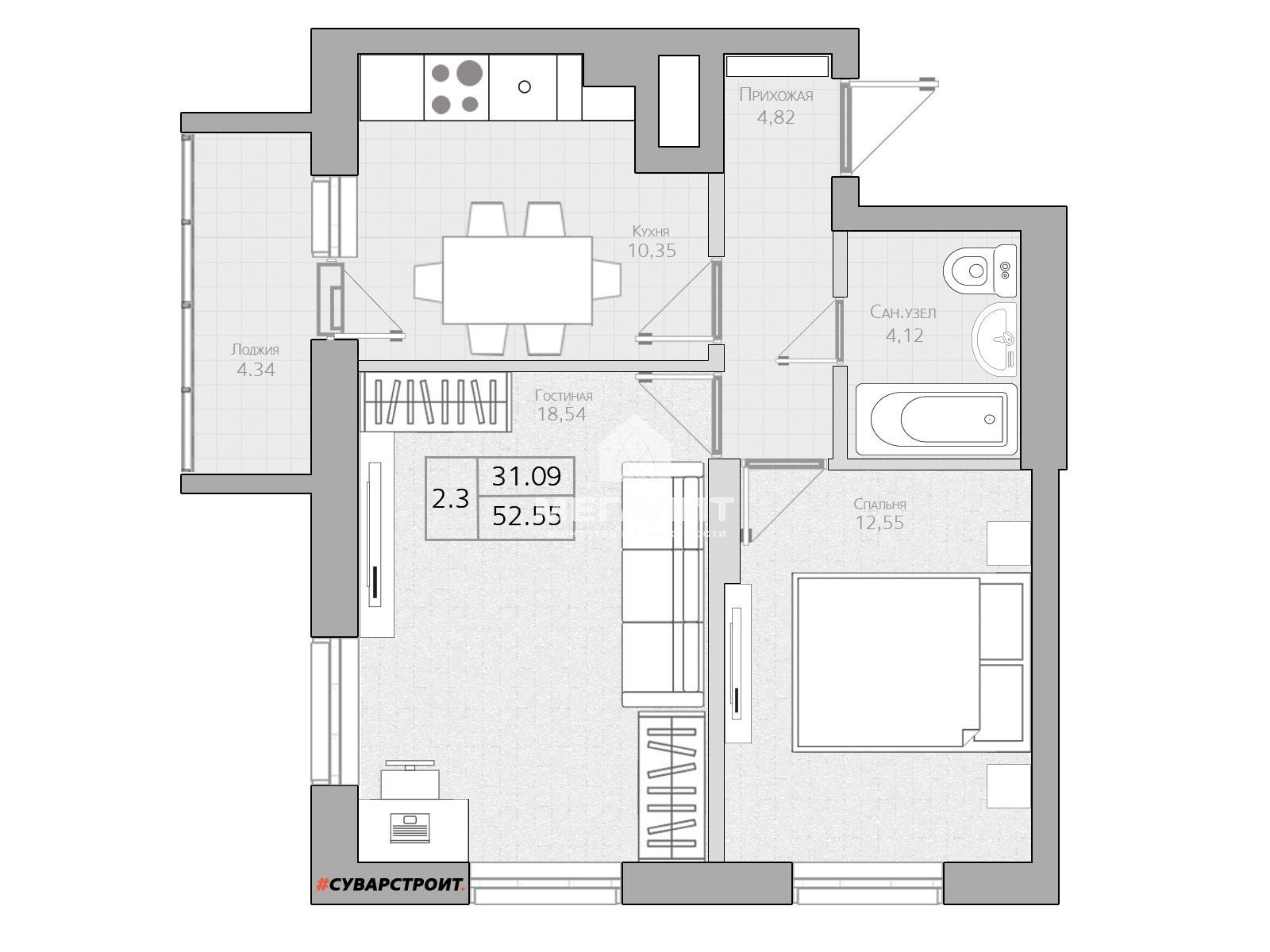 Продажа 2-к квартиры Гавриила Державина 3.2