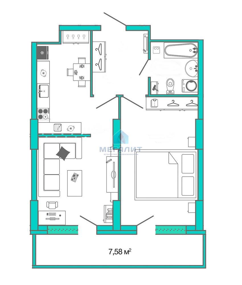 Продается 2-х комнатная квартира с видом на Кремль (миниатюра №2)