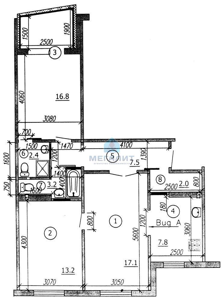 Продажа 3-к квартиры Гаврилова 14, 70 м²  (миниатюра №2)