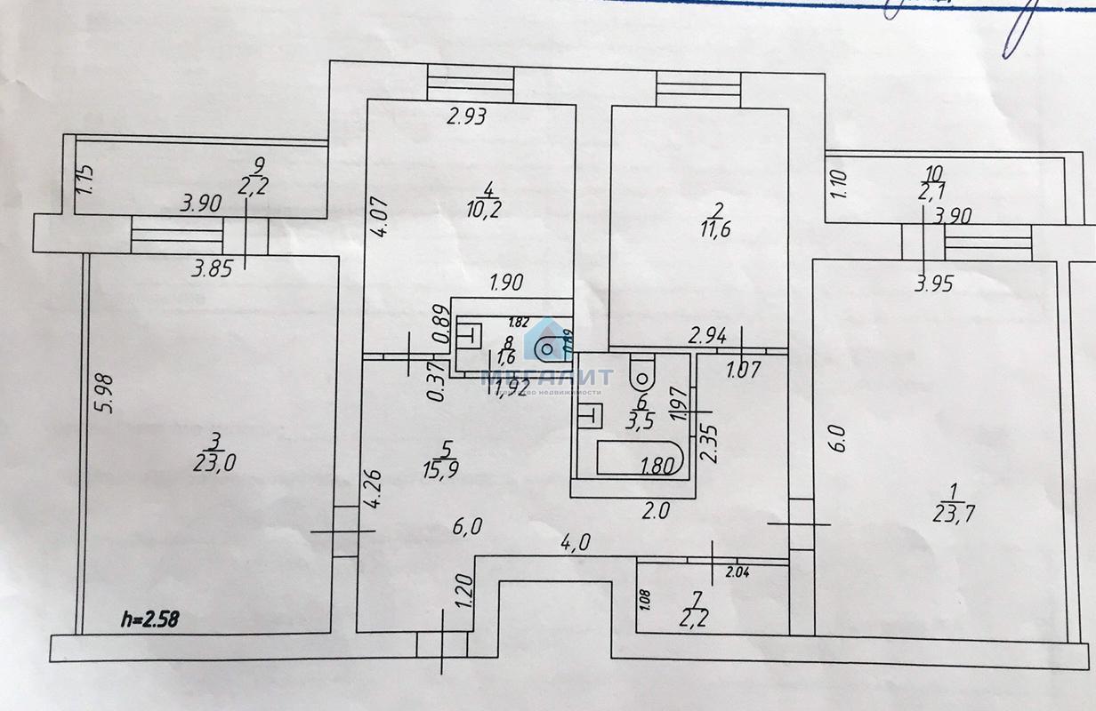 Продаю 3-х комнатную квартиру в доме повышенной комфортности! (миниатюра №5)