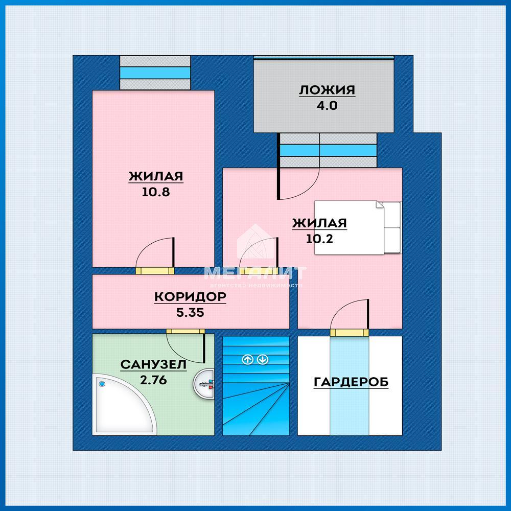Продажа 3-к квартиры Адоратского 43, 74.0 м² (миниатюра №2)