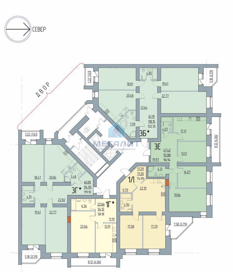 Продажа 2-к квартиры Академика Лаврентьева 11, 75 м2  (миниатюра №3)