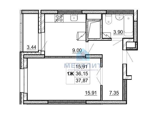 Продажа 1-к квартиры А. Кутуя 83