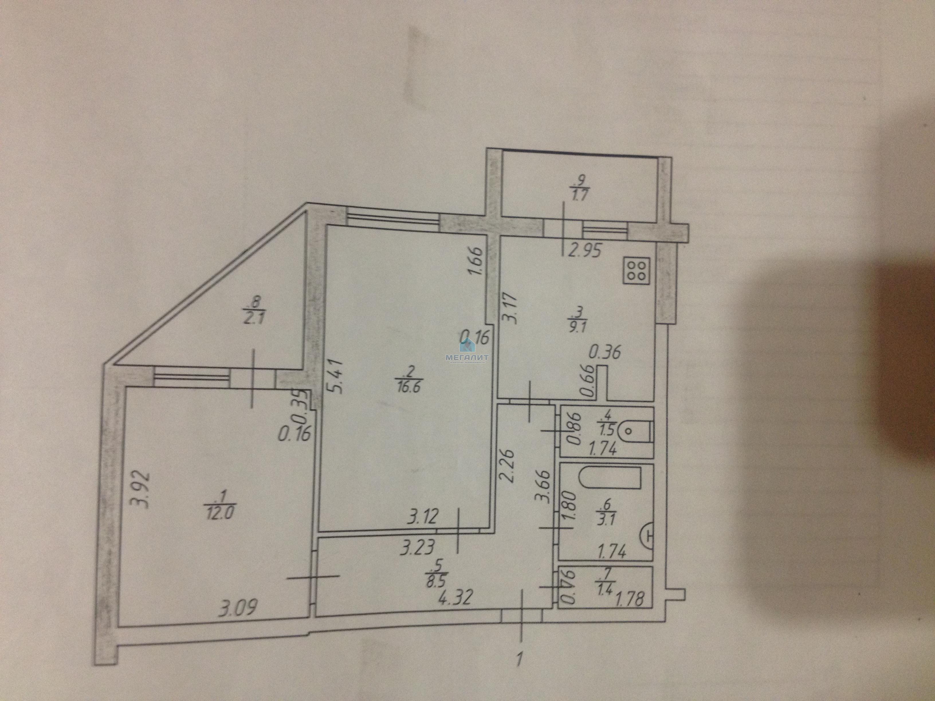 Продажа 2-к квартиры Проспект Победы 186, 60 м² (миниатюра №1)