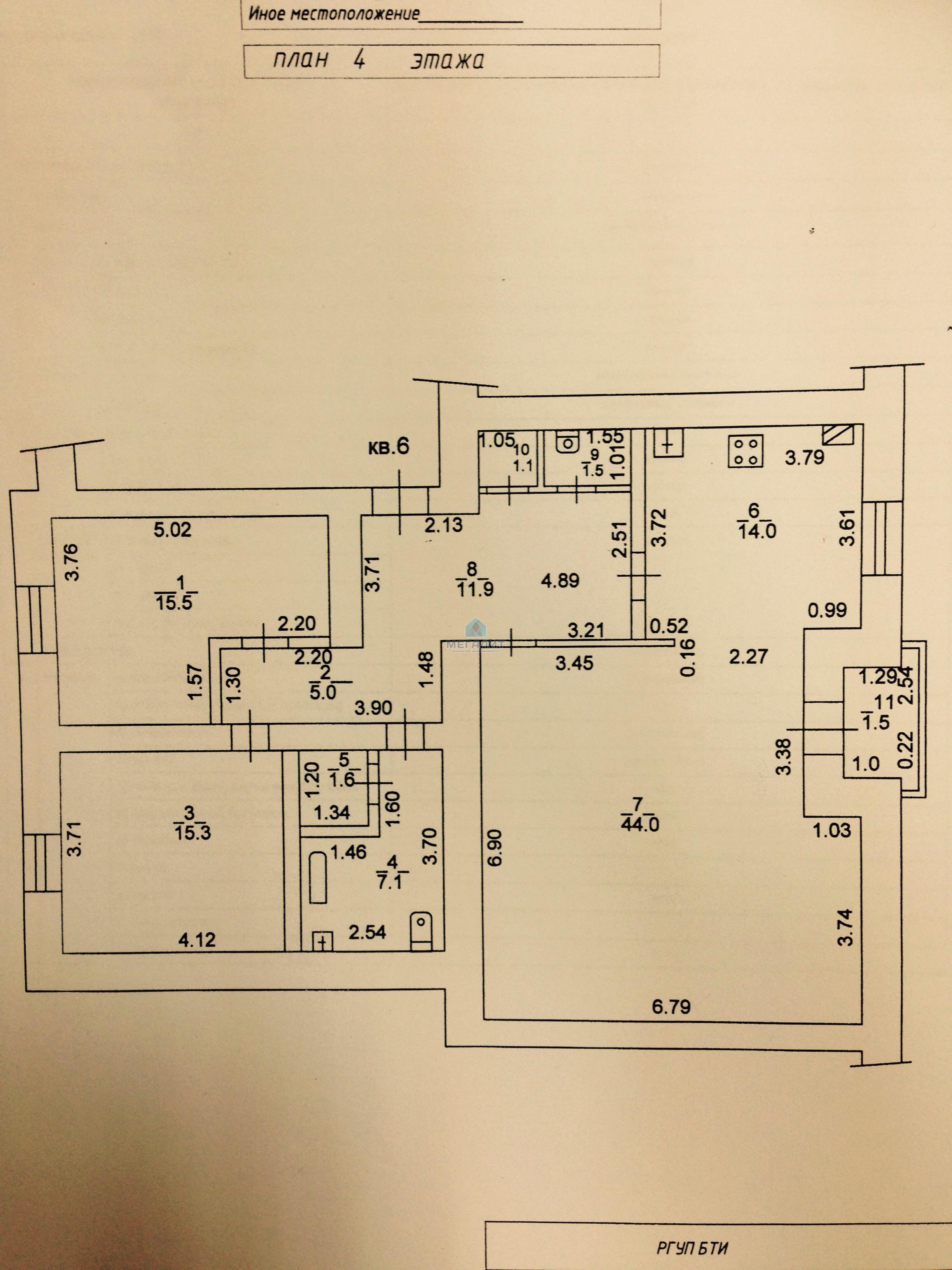 Продажа 3-к квартиры Гоголя 27, 119 м² (миниатюра №7)