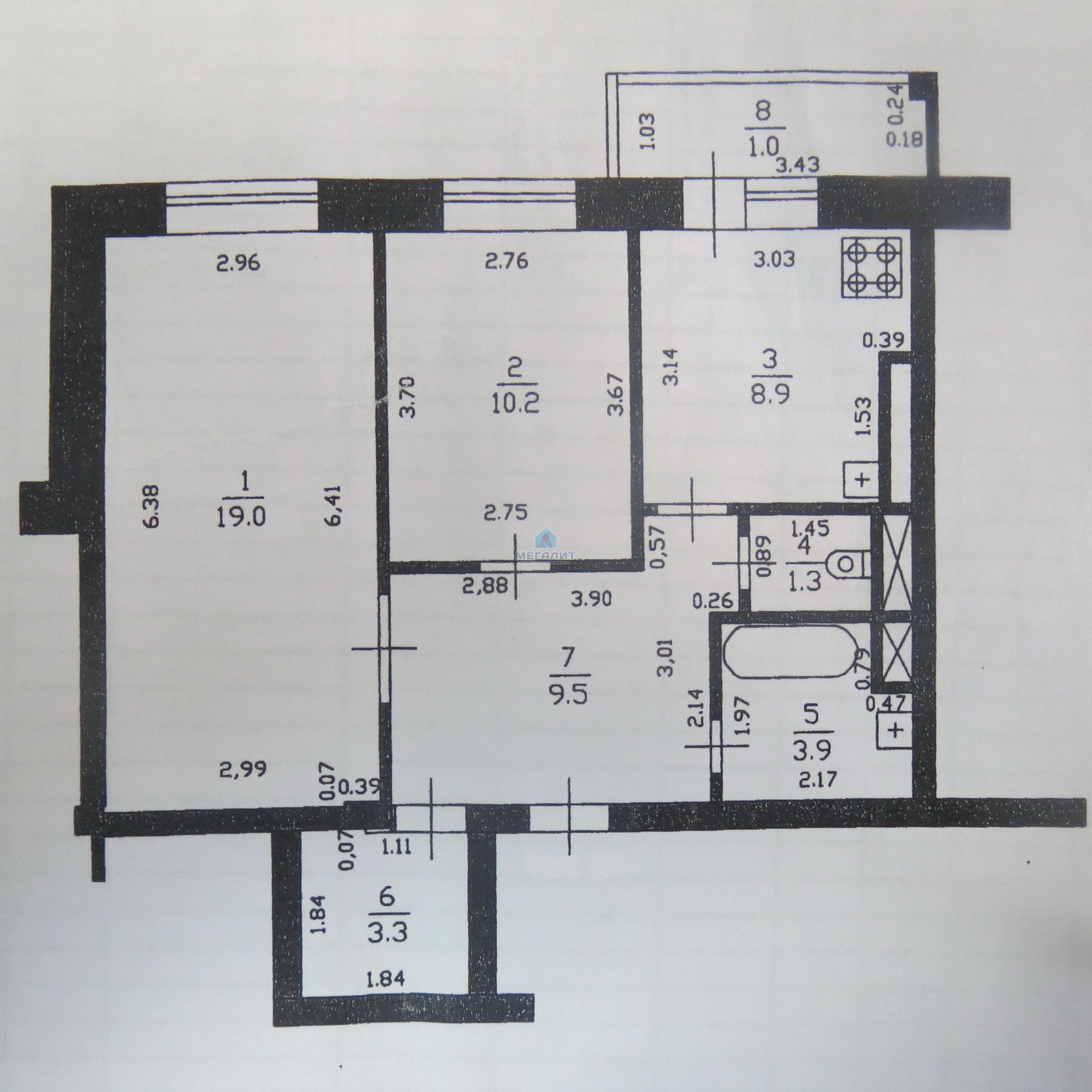 Продажа 2-к квартиры Новоселья 4, 60 м2  (миниатюра №6)