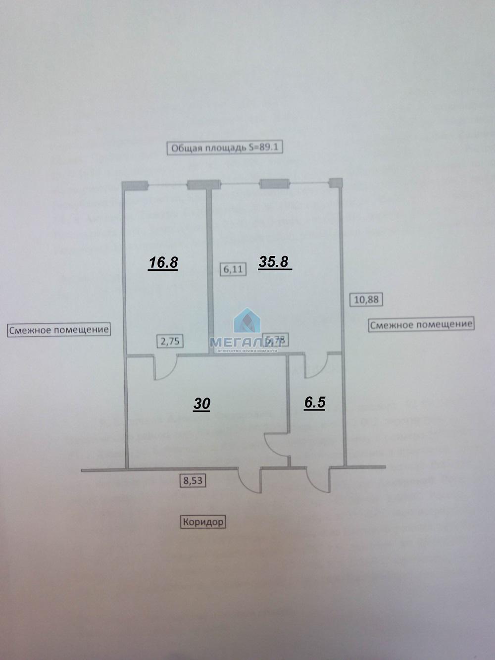 Аренда  офисно-торговые Спартаковская 2,корпус 3, 89 м² (миниатюра №9)