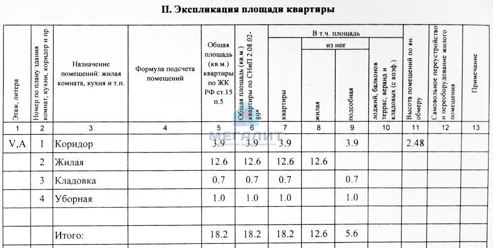 Продажа 1-к квартиры Химиков 45, 18 м2  (миниатюра №3)
