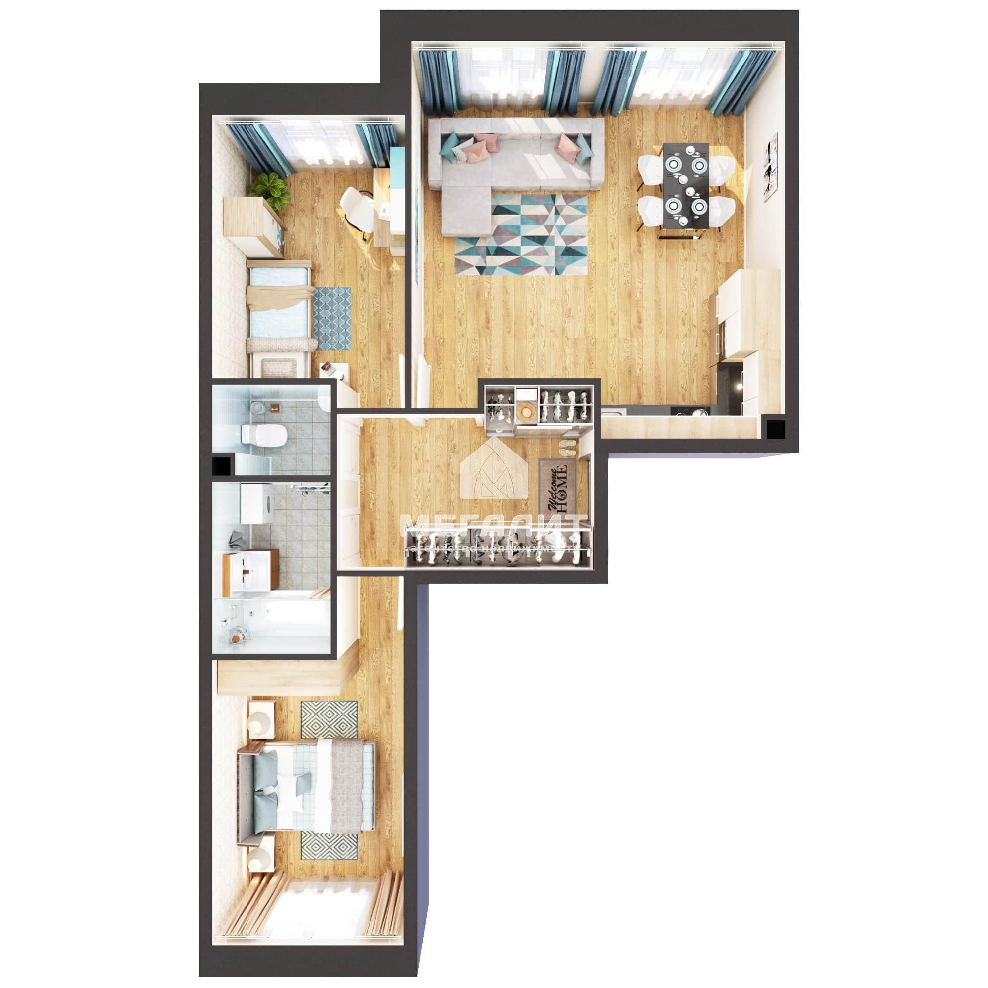 Продажа 3-к квартиры Тэцевская 4б