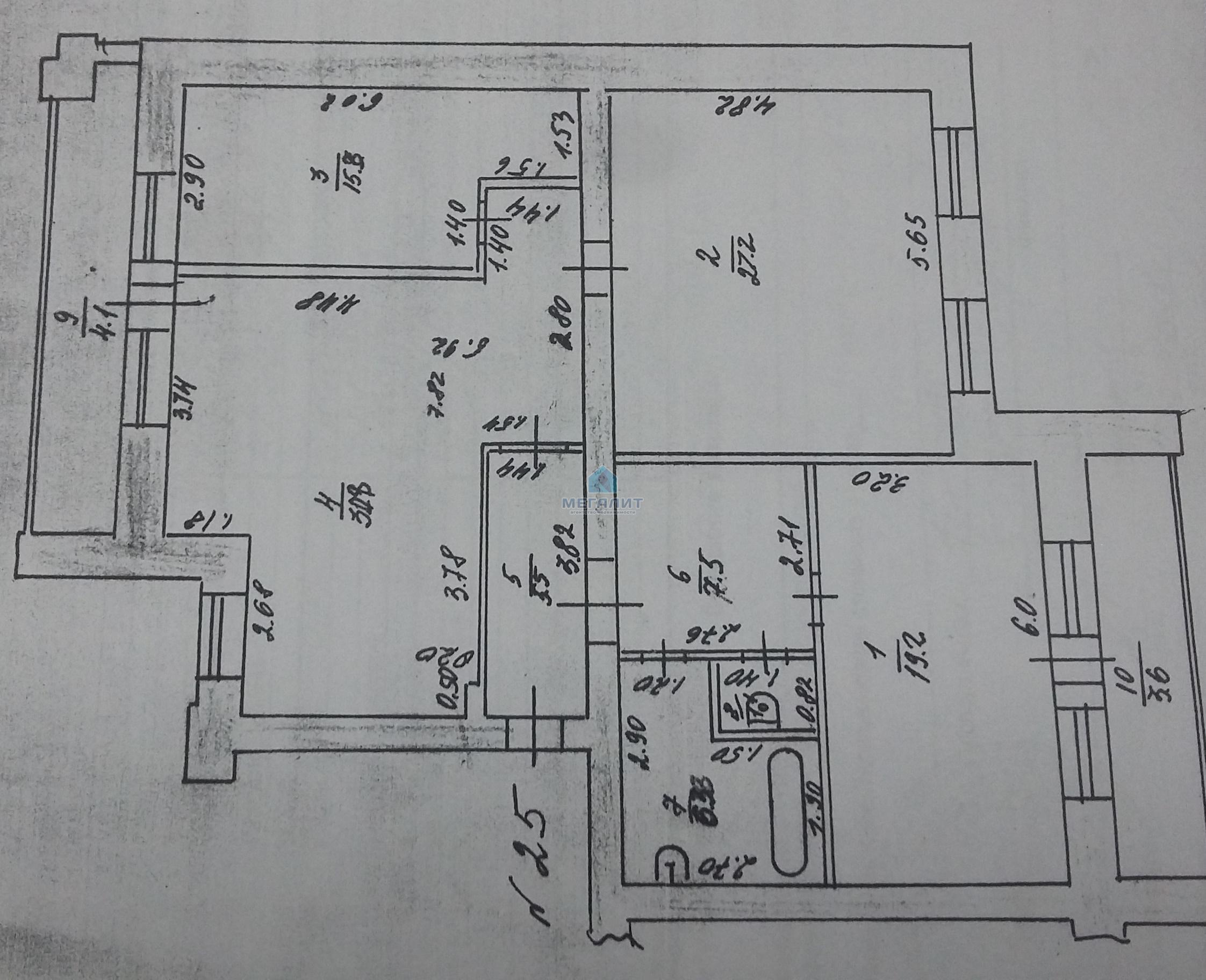 Продажа 4-к квартиры Гвардейская 59, 121.0 м² (миниатюра №8)
