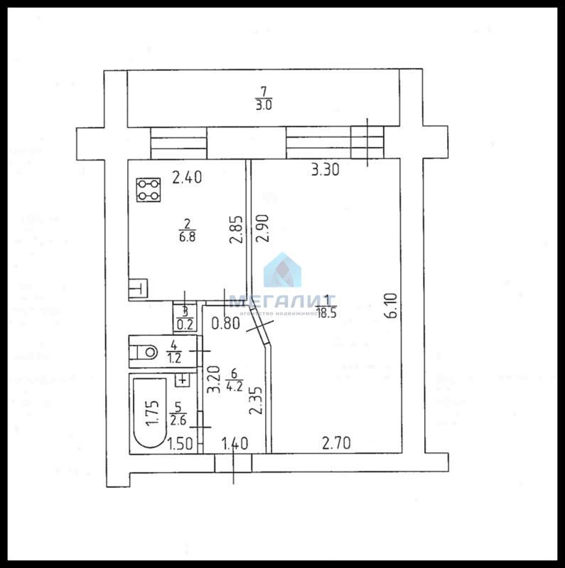 Продажа 1-к квартиры Галимжана Баруди 23, 37 м2  (миниатюра №4)