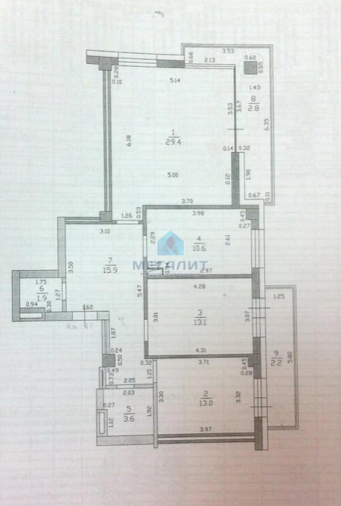 Продажа 3-к квартиры Петербургская 65 А, 100 м2  (миниатюра №5)