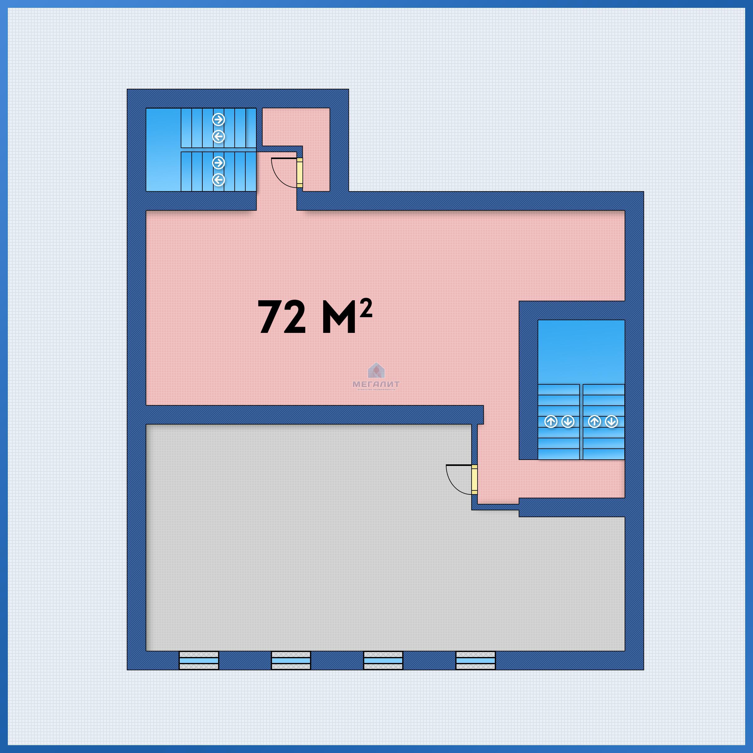 Аренда  офисно-торговые Лево-Булачная 24, 72.0 м² (миниатюра №3)