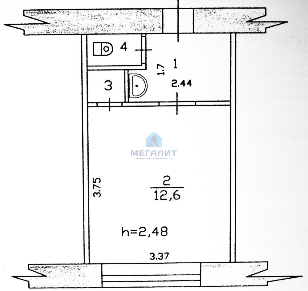 Продажа 1-к квартиры Химиков 45, 18 м2  (миниатюра №2)