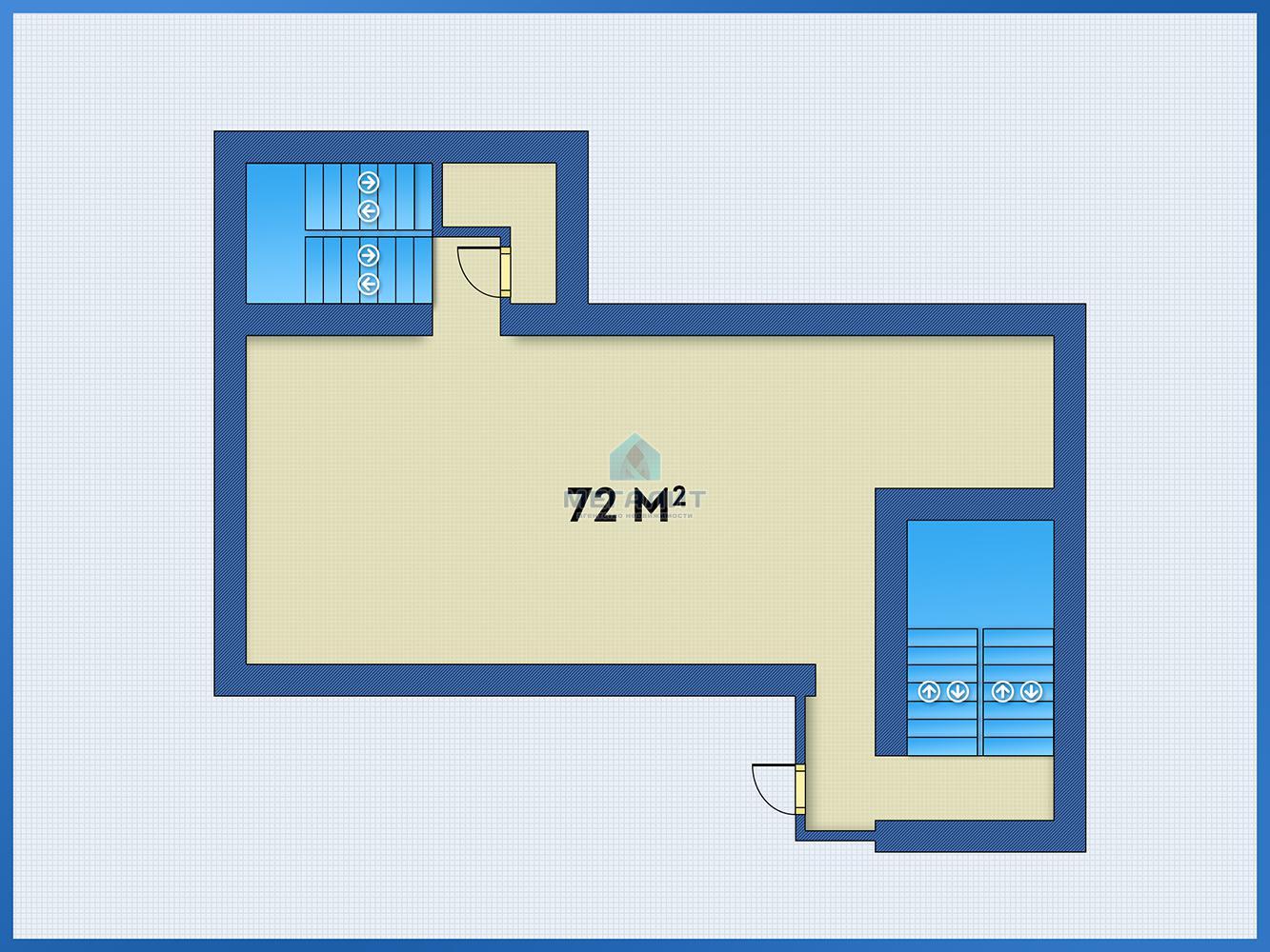 Аренда  офисно-торговые Лево-Булачная 24, 72.0 м² (миниатюра №2)