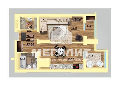 Продажа 1-к квартиры Даурская 34