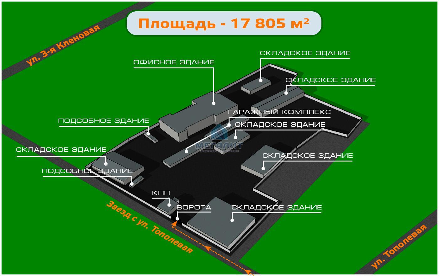 Продажа  склады, производства Кленовая 3-я