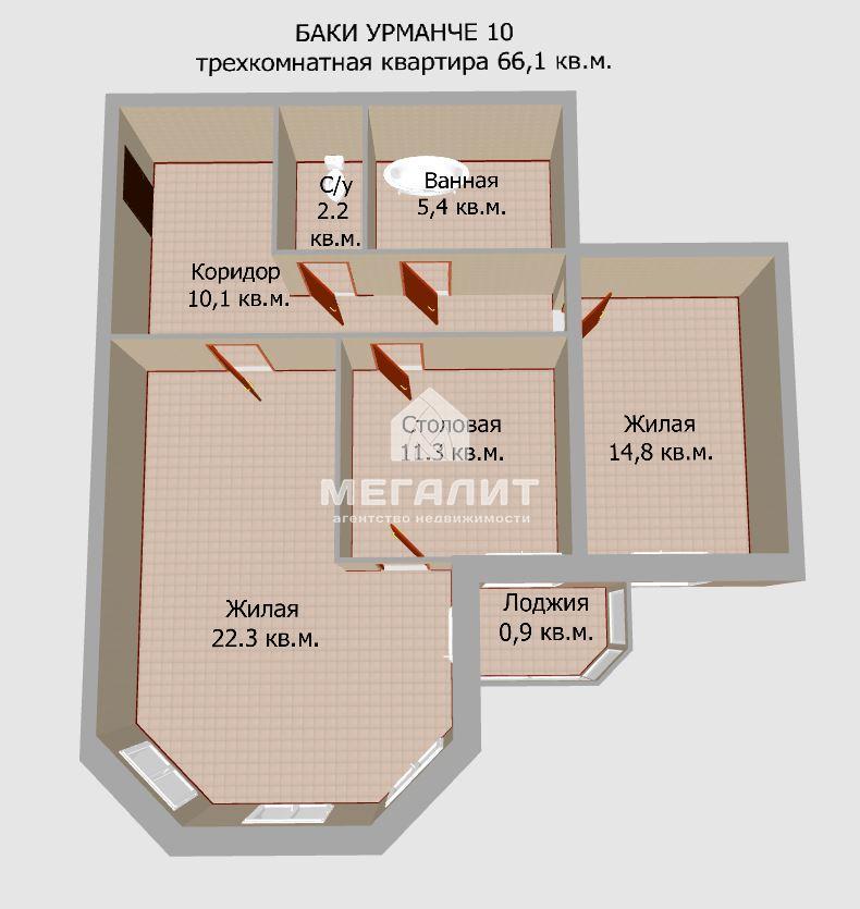 Продажа 2-к квартиры Баки Урманче 10