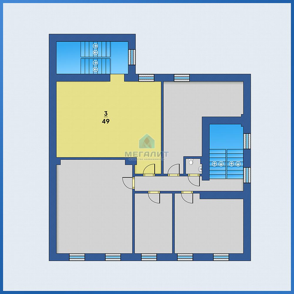Аренда  офисно-торговые Лево-Булачная 24, 49.0 м² (миниатюра №3)
