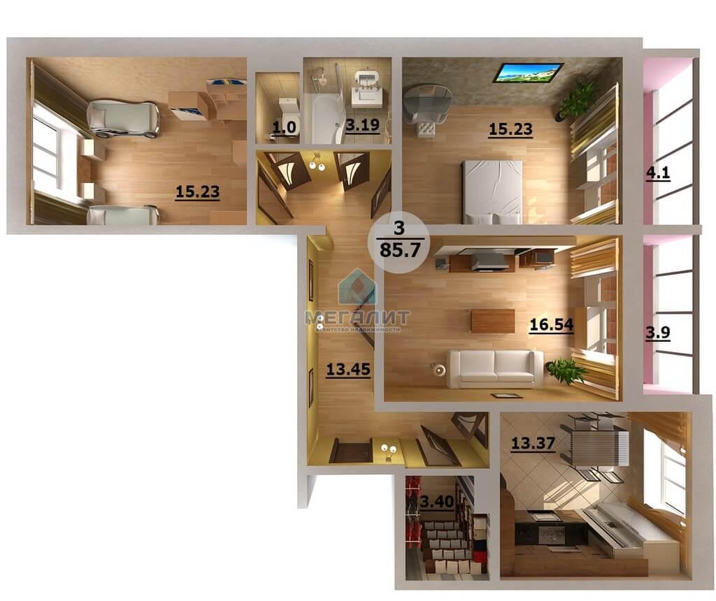 Продажа 3-к квартиры Натана Рахлина 7