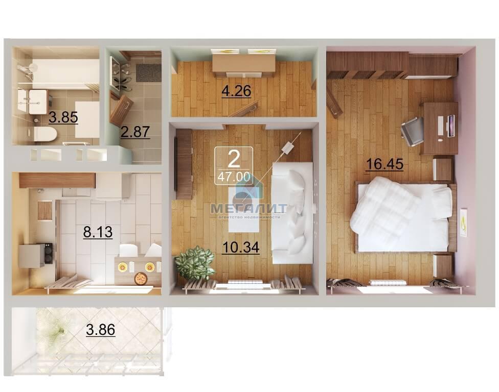 Продажа 2-к квартиры Натана Рахлина 11-2