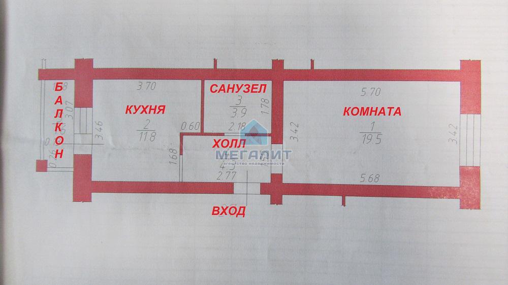 1-комнатная квартира с современным ремонтом в новом доме. (миниатюра №9)