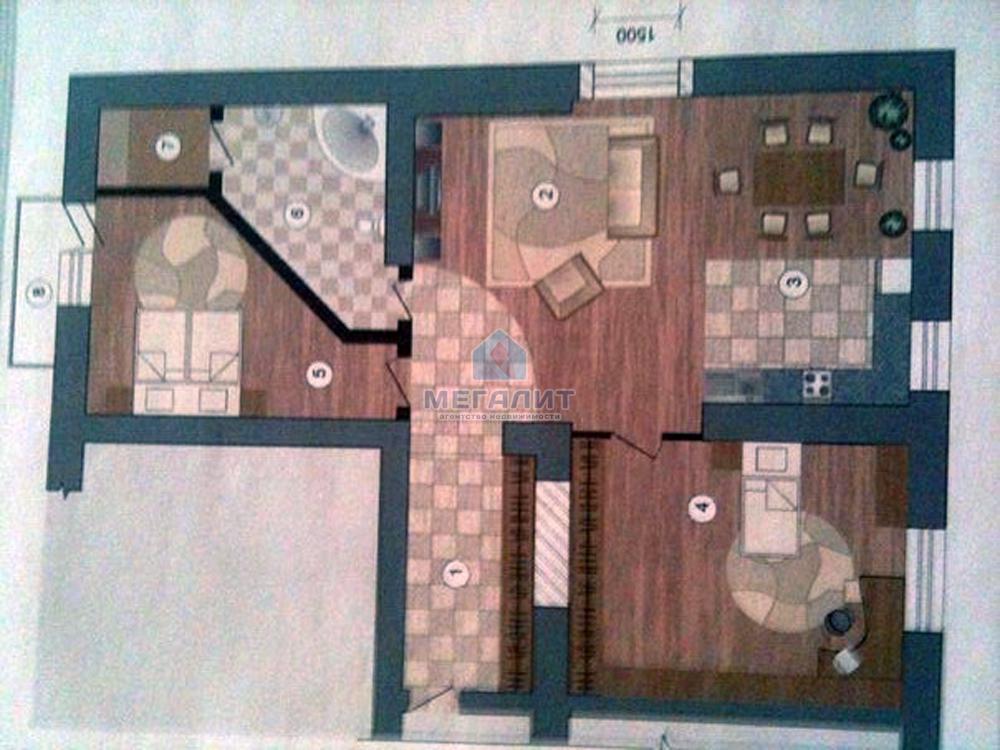 Элитная трехкомнатная квартира (миниатюра №5)
