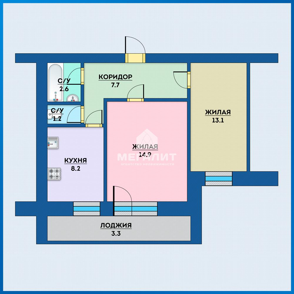 Продажа 2-к квартиры Академика Губкина 31 А