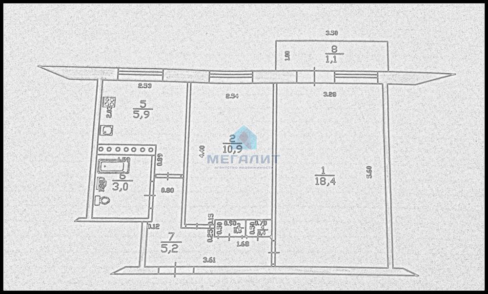 Продажа 2-к квартиры Батыршина 38, 46.0 м² (миниатюра №10)
