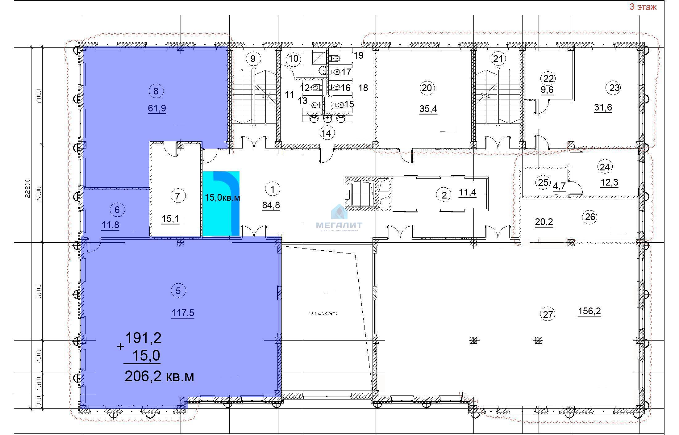 Аренда  офисно-торговые Петербургская 37, 206 м² (миниатюра №19)