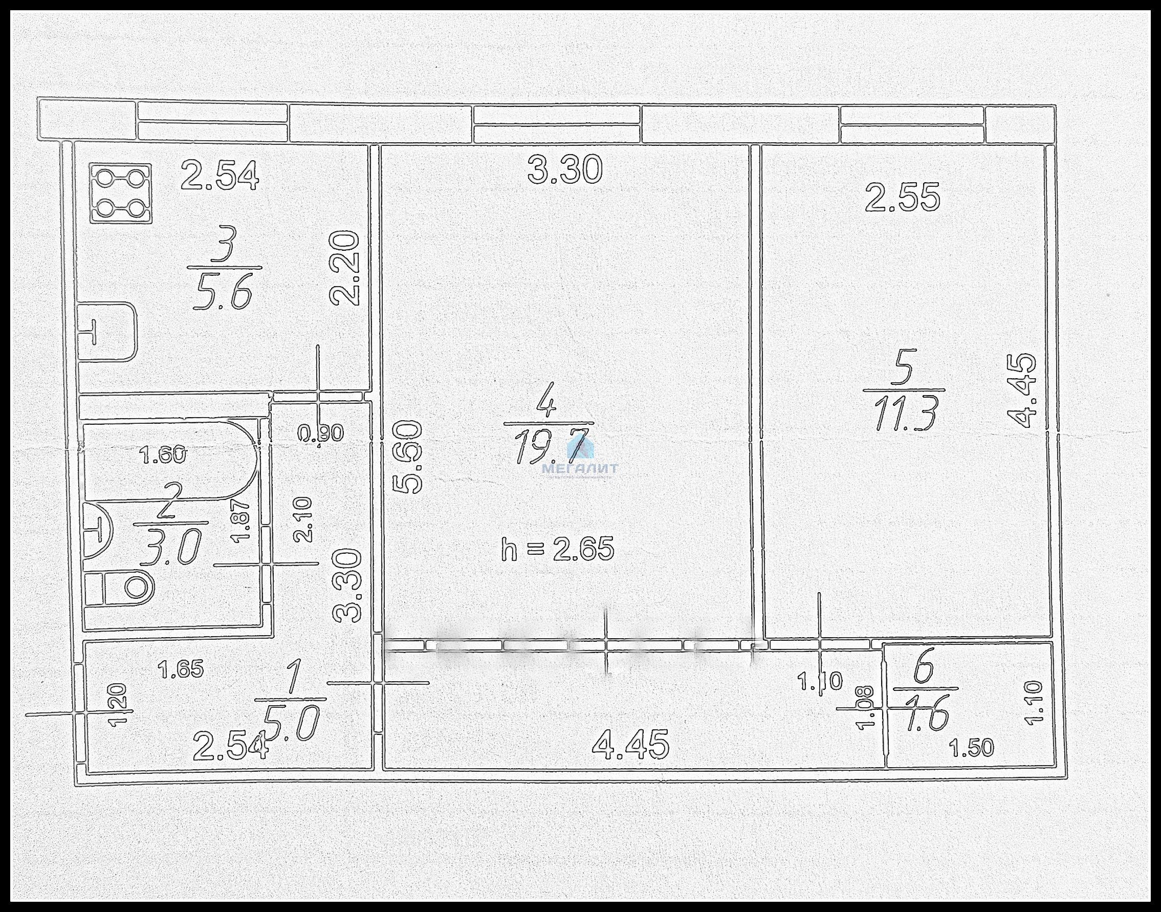 Продажа 2-к квартиры Космонавтов 9, 47 м² (миниатюра №5)