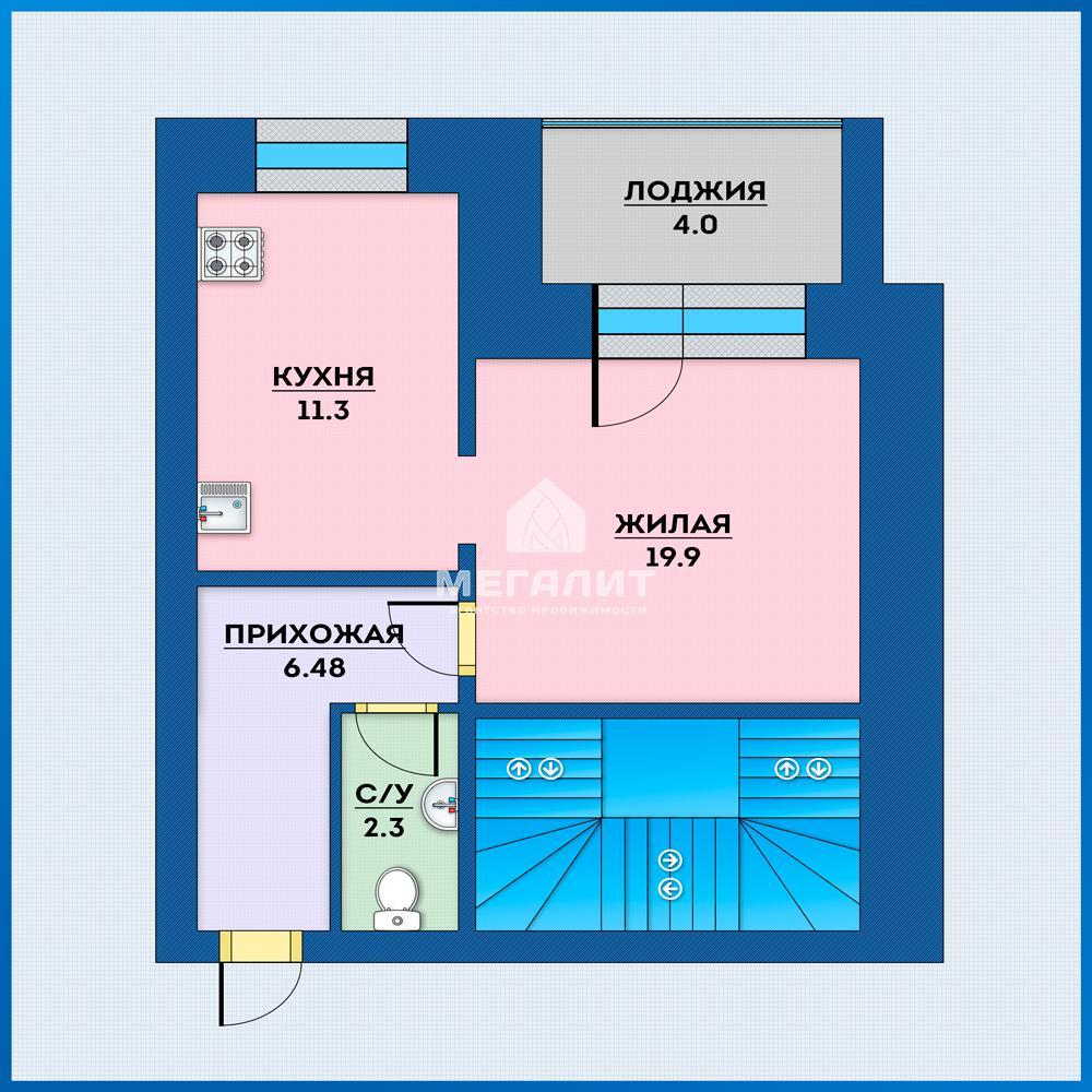 Продажа 3-к квартиры Адоратского 43, 74.0 м² (миниатюра №1)