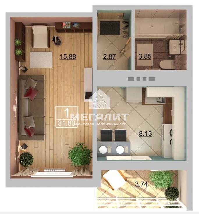 Продажа 2-к квартиры Натана Рахлина 11