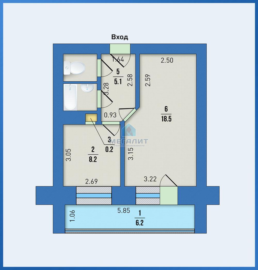 Продажа 1-к квартиры Рихарда Зорге 119, 41.0 м² (миниатюра №2)