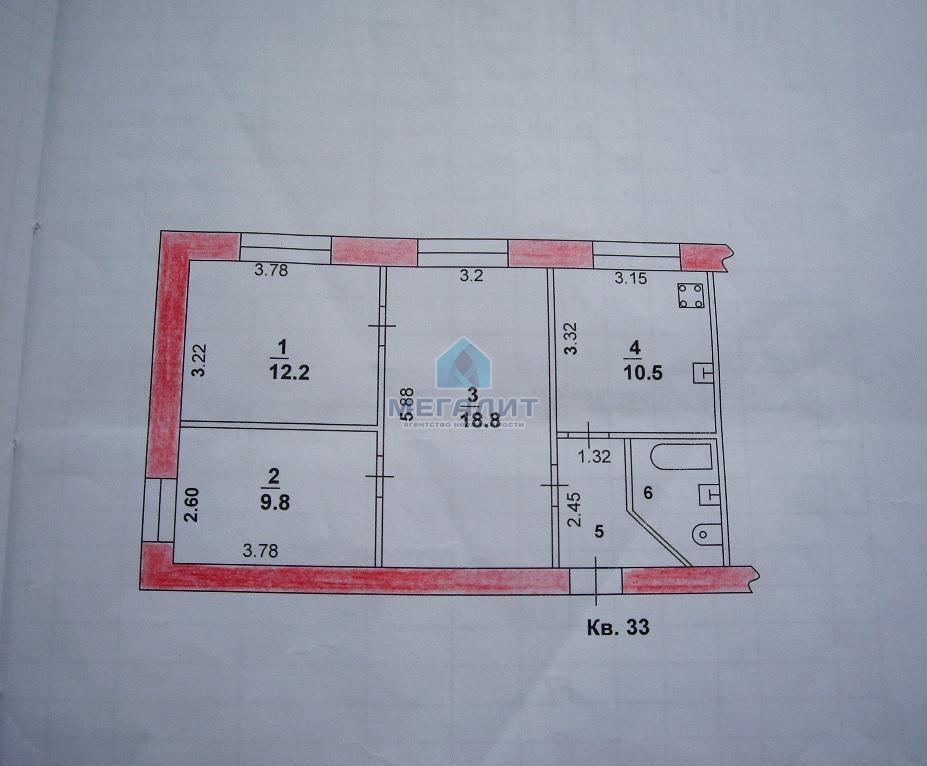 Продается 3-к квартира (миниатюра №3)