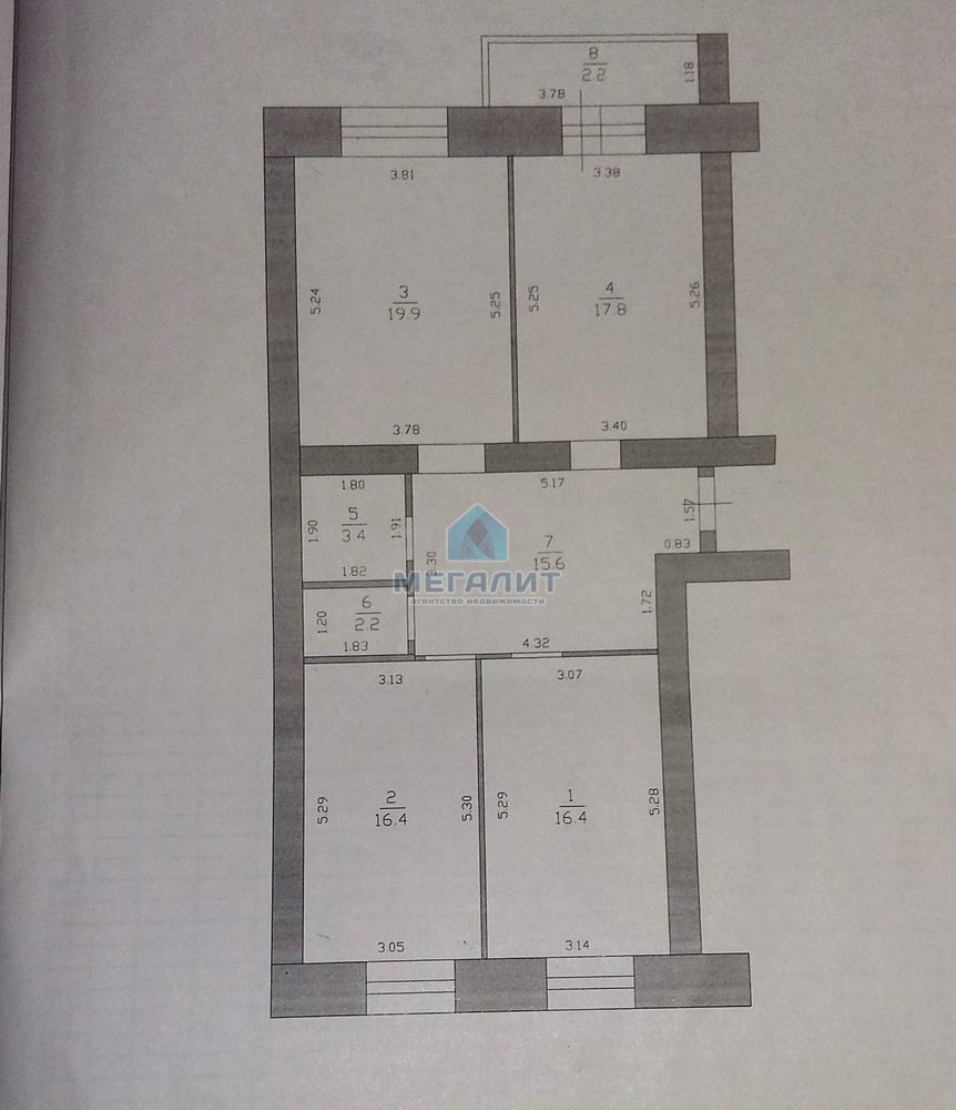 Продажа 3-к квартиры Восстания 129, 94 м² (миниатюра №4)
