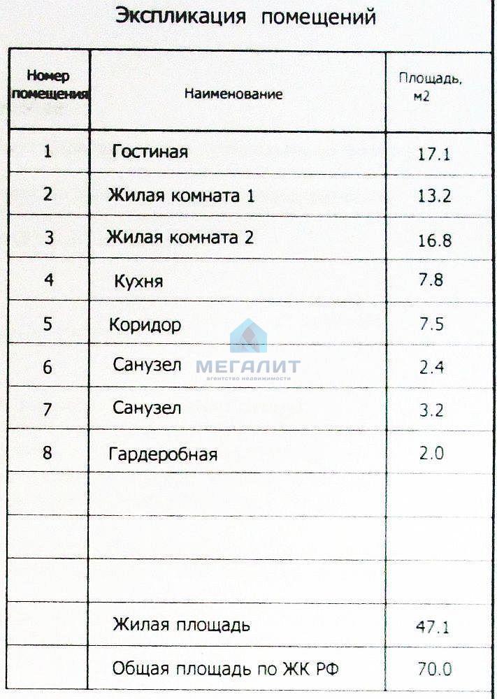 Продажа 3-к квартиры Гаврилова 14, 70 м²  (миниатюра №3)