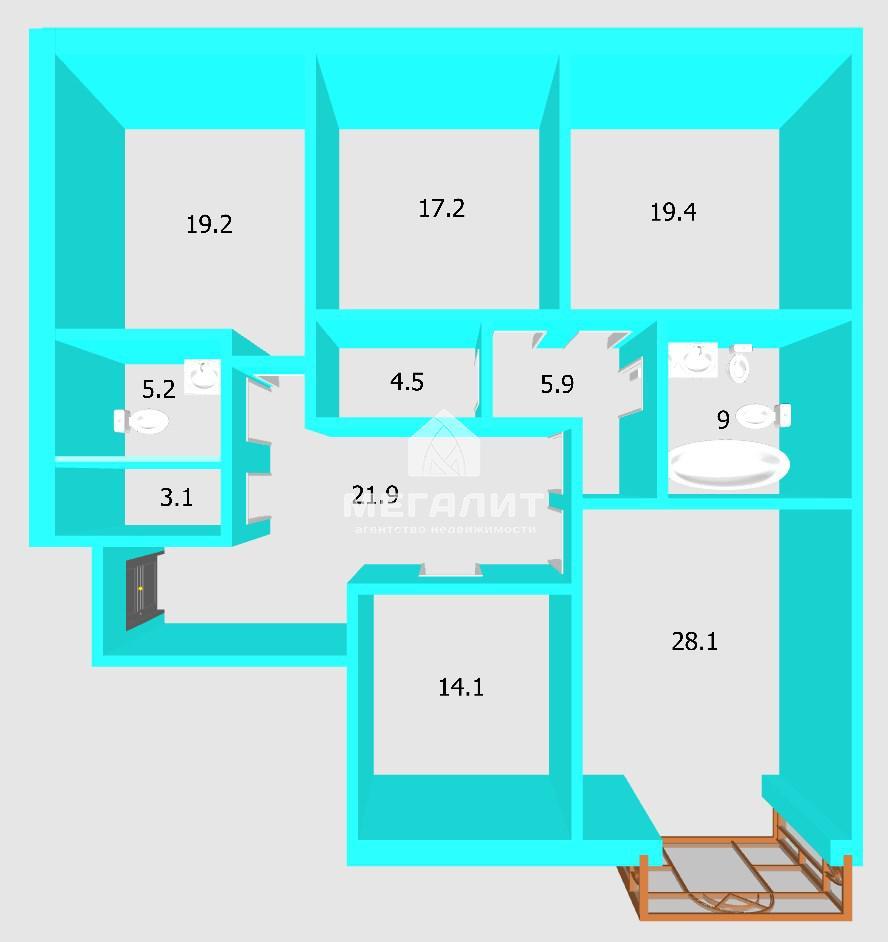 Продажа 4-к квартиры Габдуллы Кариева 10