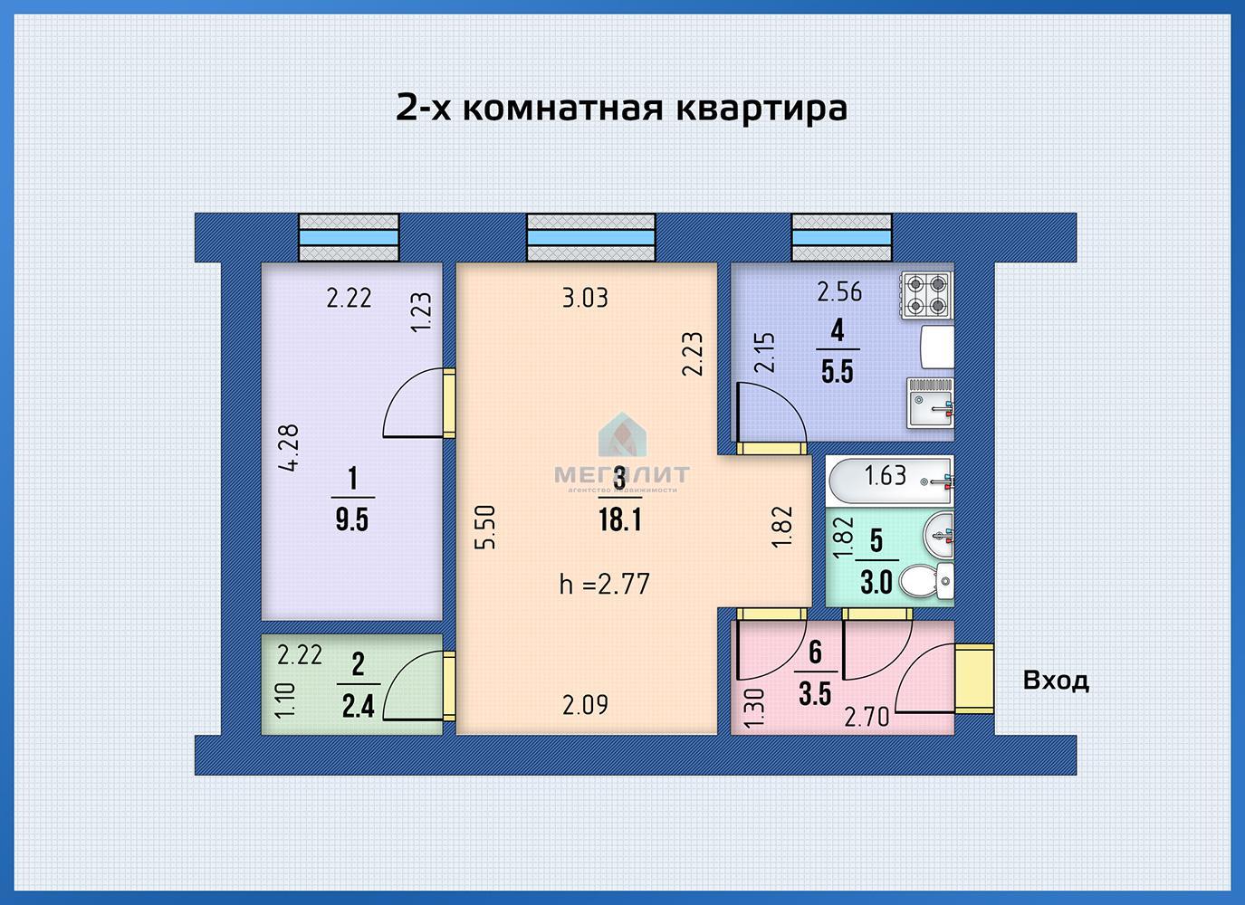 Продажа 2-к квартиры Авангардная 62/1