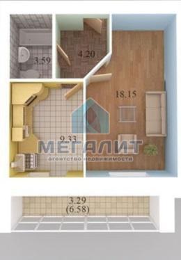 Аренда 1-к квартиры Салиха Батыева 15, 41 м2  (миниатюра №1)