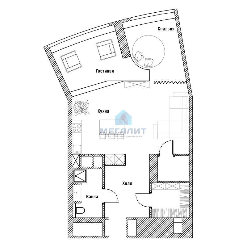 Продажа 1-к квартиры Альберта Камалеева 1, 78 м² (миниатюра №11)